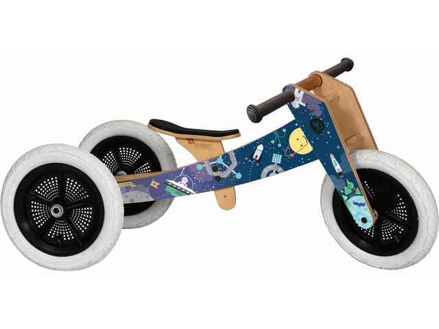 Wishbone 3 in 1 Design Bike Løbecykel Børn Space Limited 2018 blå | Learner Bikes